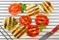 Grilled tomatoes and onions Royalty Free Stock Photography