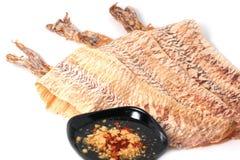 Grilled trocknete Kalmar stockbild