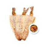 Grilled trocknete Kalmar stockbilder