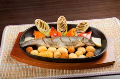 Grilled Trout .japanese cuisine Royalty Free Stock Photo