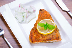 Grilled trout with lemon Stock Image