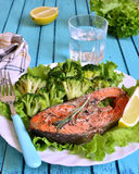 Grilled trout. Stock Images