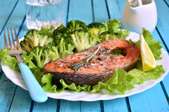 Grilled trout. Royalty Free Stock Photography