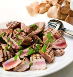 Grilled tuna stock photo