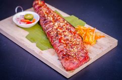 Grilled Tuna Belly royalty free stock photos