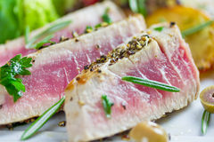 Grilled tuna Stock Images