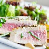 Grilled tuna Stock Photo