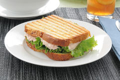 Grilled tuna sandwich Stock Image