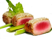 Grilled tuna with sesame Royalty Free Stock Images