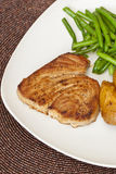 Grilled tuna steak Stock Photos