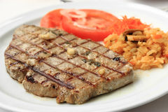 Grilled Tuna steak Stock Photography