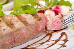 Grilled tuna steak Stock Image
