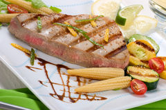 Grilled tuna steak Royalty Free Stock Photo