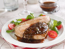 Grilled tuna steak Stock Images
