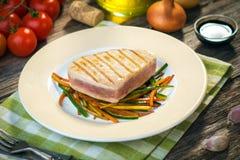 Grilled tuna steak Stock Photo