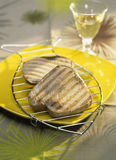 Grilled tuna steaks Stock Image