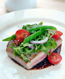 Grilled tuna with vegetables Stock Images