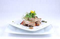 Grilled tuna with vegetables Royalty Free Stock Photography