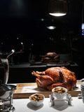 Grilled turkey at chrismast eve