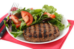 Grilled turkey hamburger Royalty Free Stock Image