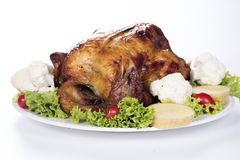 Grilled turkey Stock Images
