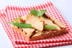Grilled turkey sandwich Stock Photography