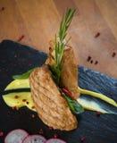 Grilled turkey steak Stock Images