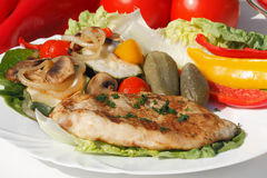 Grilled turkey steak Royalty Free Stock Photography