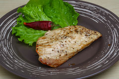 Grilled turkey steak Royalty Free Stock Images