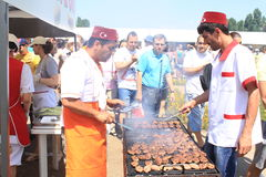 Grilled Turkish. At Turkish festival in Bucharest, Romania Royalty Free Stock Images