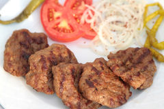 Grilled Turkish meatball ( Kofte ) ma ro shot Royalty Free Stock Images
