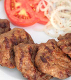 Grilled Turkish meatball ( Kofte ) ma ro shot Stock Photography
