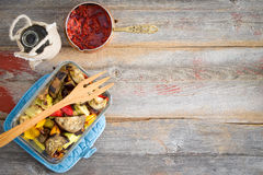 Grilled Turkish style vegetables with pepper paste Stock Photography