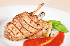 Grilled veal chop Stock Photo