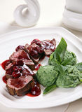Grilled veal meat Stock Photography