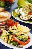 Grilled vegetable. Grilled zucchini and other vegetables served on a plate Royalty Free Stock Photo