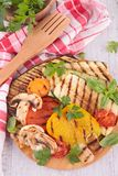 Grilled vegetable on board Royalty Free Stock Images