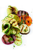 Grilled vegetable isolated on white Stock Photos