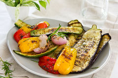 Grilled vegetable salad Royalty Free Stock Photography