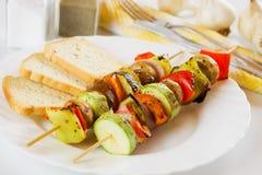 Grilled vegetable on skewer Royalty Free Stock Image