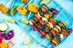 Grilled vegetable skewers, bbq menu Stock Image