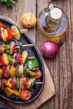 Grilled vegetable skewers. Royalty Free Stock Image