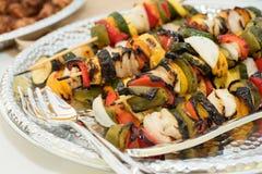 Grilled vegetable skewers Royalty Free Stock Photo