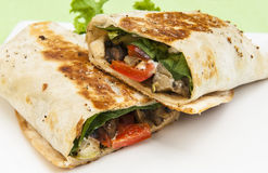 Grilled Vegetable Wrap Royalty Free Stock Image