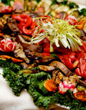 Grilled Vegetables. On a tray stock photos