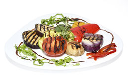 Grilled vegetables. Big pieces of different grilled vegetables Stock Image
