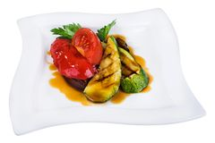 Grilled Vegetables. Vegetables Roasted on the Grill Stock Photo