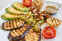 Grilled Vegetables Appetizer royalty free stock image