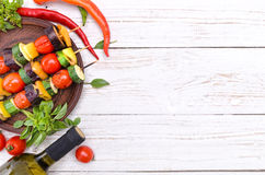 Grilled vegetables. Background. royalty free stock photos