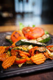Grilled vegetables, baked in coal oven Royalty Free Stock Image